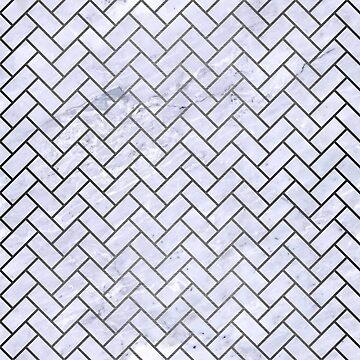 BRICK2 WHITE MARBLE & GRAY BRUSHED METAL (R) by johnhunternance