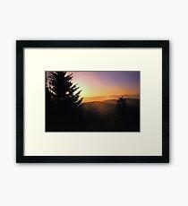 SUNRISE,CLINGMANS DOME Framed Print