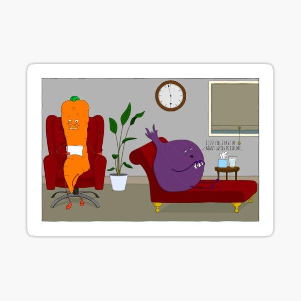 Vegetables Have Feelings... Sticker