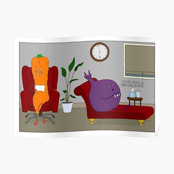 Vegetables Have Feelings... Poster