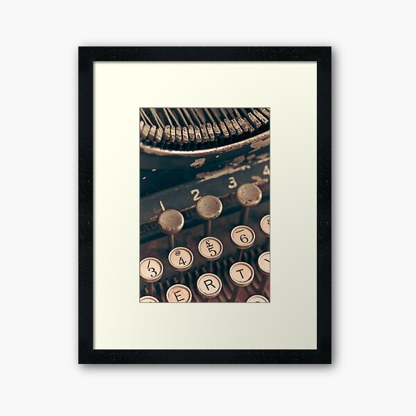 Vintage Typewriter Framed Art Print