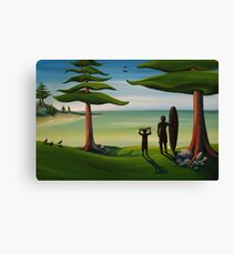 Beach Bros Canvas Print