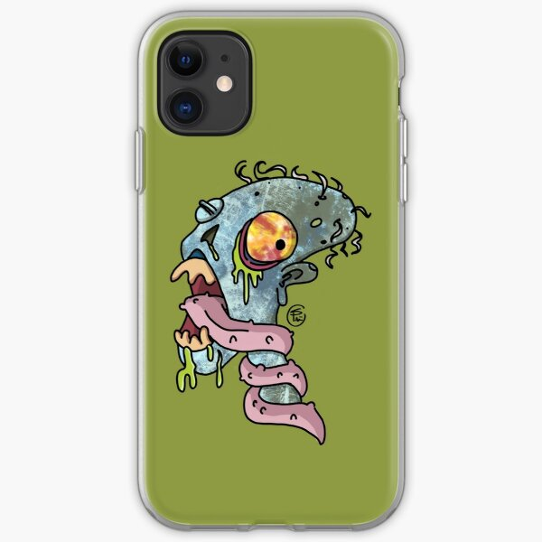 Tounge-Tied Zombie by shellyphilart iPhone Soft Case