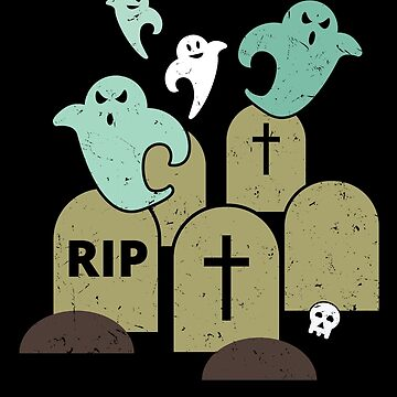 Graveyard Ghosts Spooky Halloween Gift by lifestyleswag