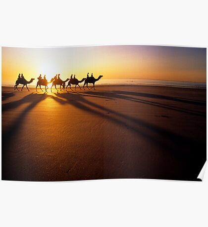 Broome camel train. Poster
