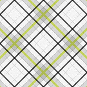 Diagonal tartan gray and yellow over white. by pattypattern
