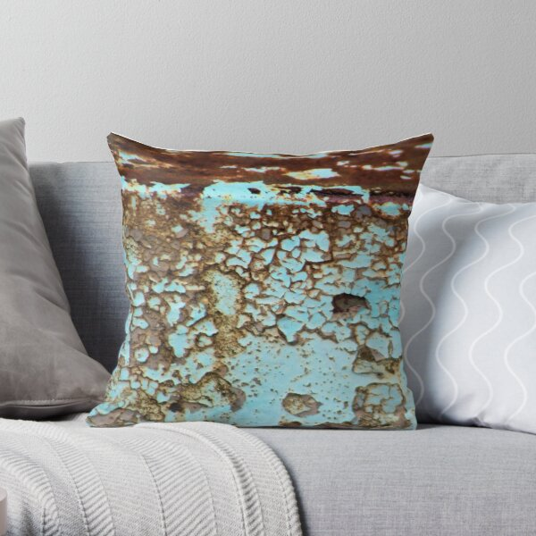 Burnished Copper Throw Pillow