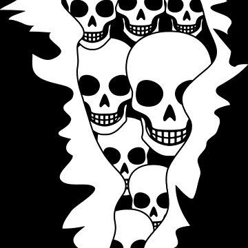 Skull Burst Halloween Gift by lifestyleswag