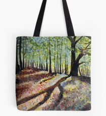 Poringland Wood Norfolk - Watercolour Challenge Tote Bag