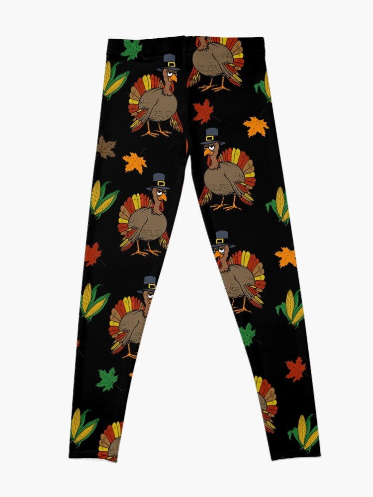 Alternate view of Thanksgiving Turkey pattern Leggings