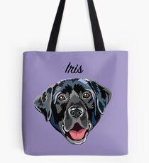 Iris (custom name) black Labrador Tote Bag