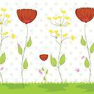 Cute Floral Illustration by artonwear