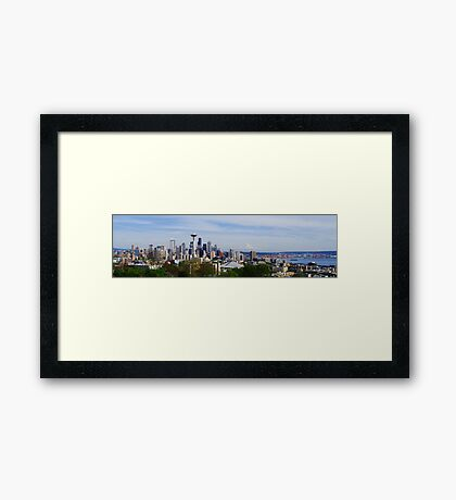 Seattle Panoramic Framed Print