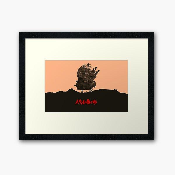 Le Chateau Ambulant - Hayao Miyazaki Impression encadrée