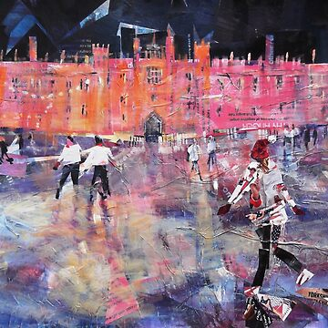 Ice Skating at Hampton Court Palace England by ballet-dance
