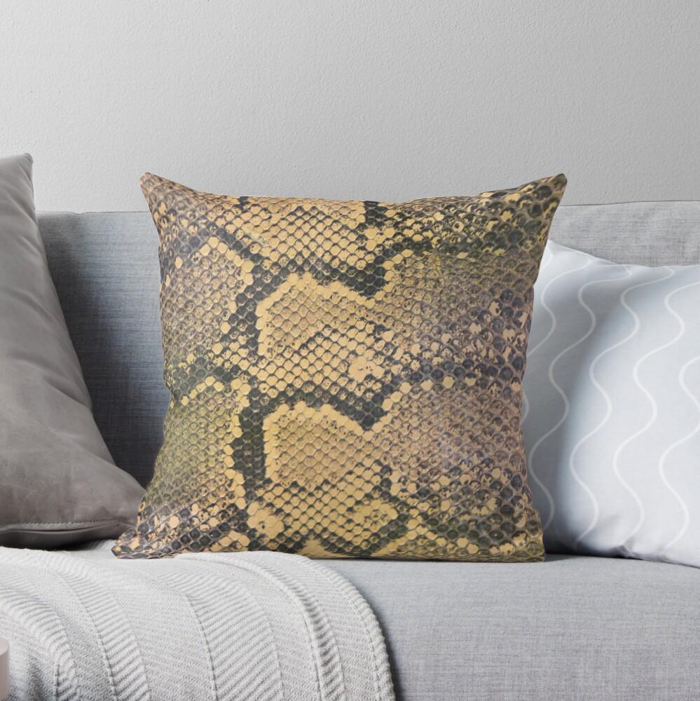 Snakeskin Throw Pillow
