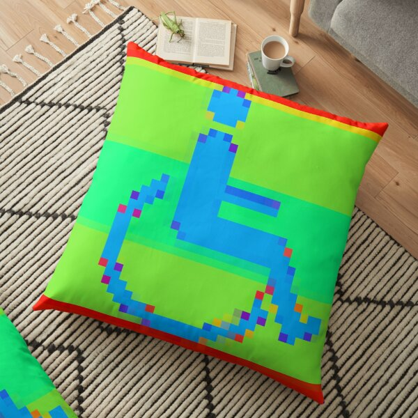 Handicap and singularity XII by RootCat and marie b. Floor Pillow