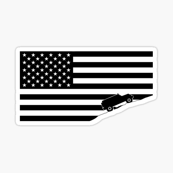 American Flag Jeep Sticker