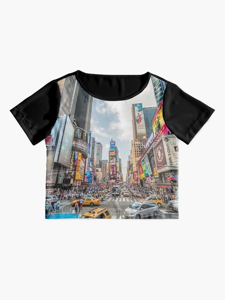 Alternate view of Times Square Traffic Chiffon Top