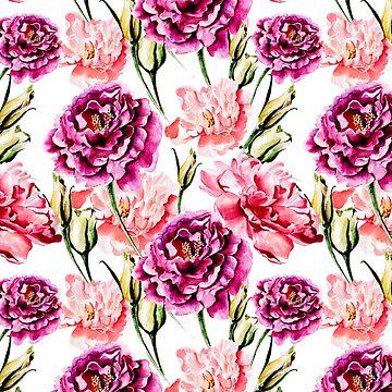 Pink flowers seamless pattern by ShowMeMars