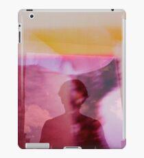 Portrait woman fantasy analog film double exposure iPad Case/Skin