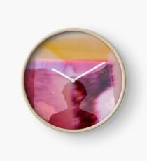Portrait woman fantasy analog film double exposure Clock