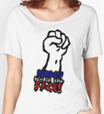 Punch Him In The Face - Stitches - QWA Women's Relaxed Fit T-Shirt