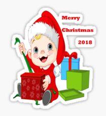 Merry Christmas 2018 Sticker
