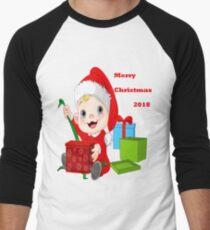 Merry Christmas 2018 Men's Baseball ¾ T-Shirt
