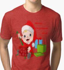 Merry Christmas 2018 Tri-blend T-Shirt