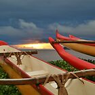 Outriggers at Sunset by Ran Richards