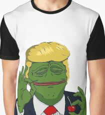 Donald Trump as Pepe reeee Graphic T-Shirt
