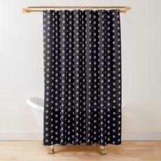 Purple Zebra Polka Dots Shower Curtain