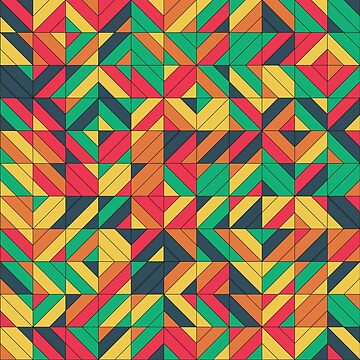 Abstract pattern with diagonal colors by swisscreation