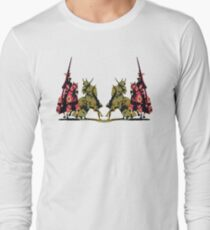 four noble knights on horseback with lance and sword Long Sleeve T-Shirt