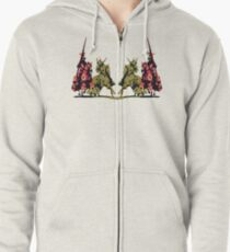 four noble knights on horseback with lance and sword Zipped Hoodie