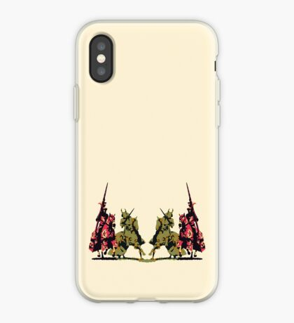 four noble knights on horseback with lance and sword iPhone Case