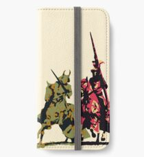 four noble knights on horseback with lance and sword iPhone Wallet/Case/Skin