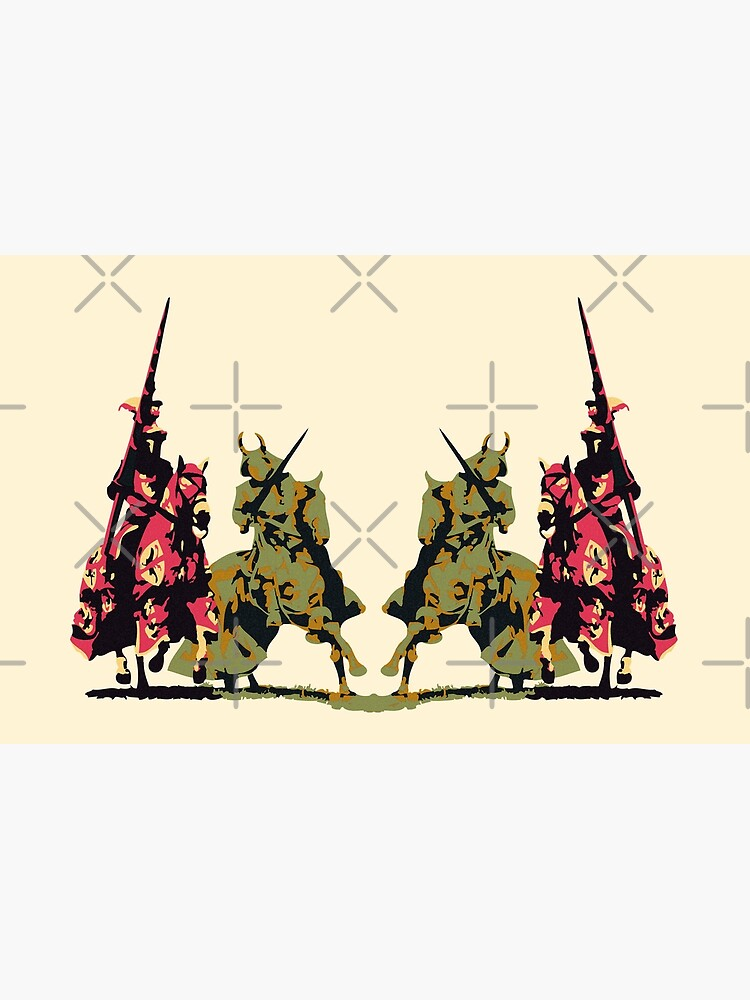 four noble knights on horseback with lance and sword by cglightNing