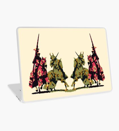 four noble knights on horseback with lance and sword Laptop Skin