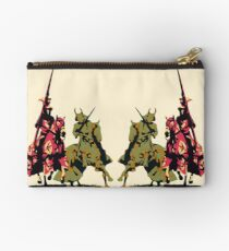 four noble knights on horseback with lance and sword Studio Pouch