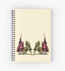 four noble knights on horseback with lance and sword Spiral Notebook