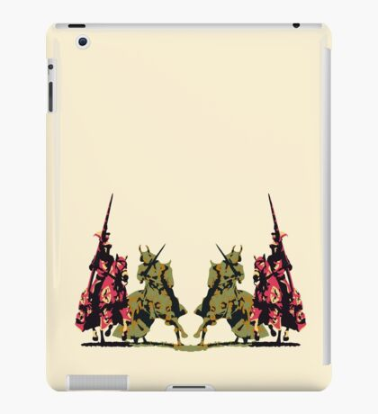 four noble knights on horseback with lance and sword iPad Case/Skin