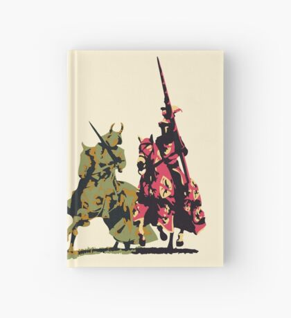 four noble knights on horseback with lance and sword Hardcover Journal