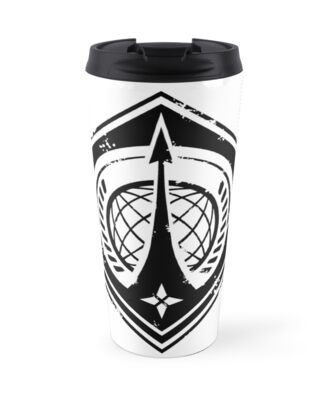 Halo Unsc Navy Insignia Weathered Travel Mugs By Teethehee
