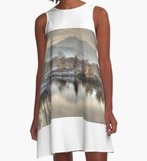 Between Fall and Winter A-Line Dress