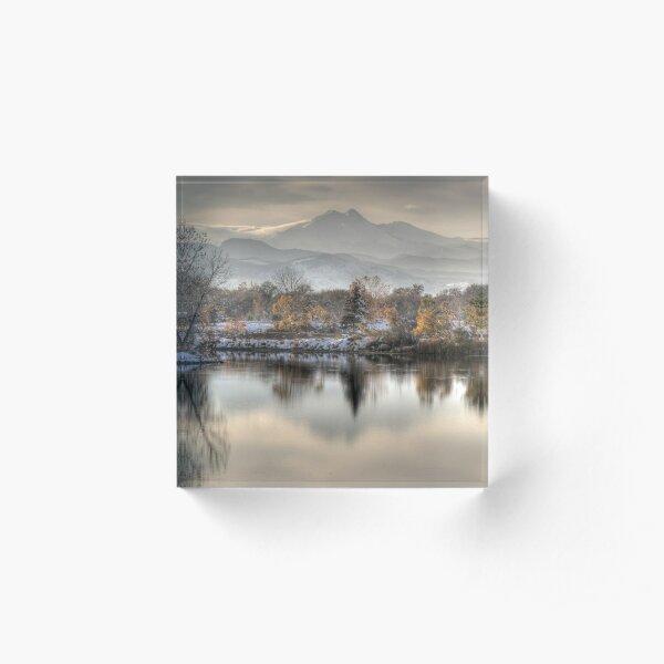 Between Fall and Winter Acrylic Block