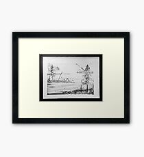 Marsh Land Framed Print