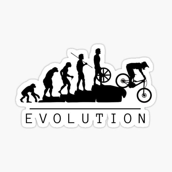 Evolution du vélo de montagne Sticker