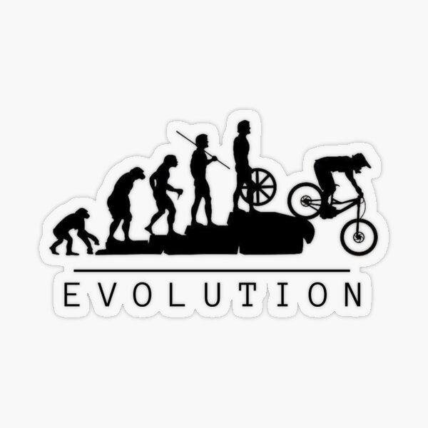 Mountain Bike Evolution Transparent Sticker